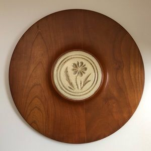 Pigeon Forge Pottery Plate Plater Wood Ceramic